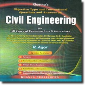 Assam PWD Civil Engineering Book- Objective Type and Conventional Questions and Answers By R Agor