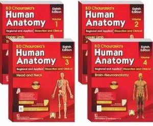 B D Chaurasia's Human Anatomy 4 Volume Set(Vol-1,2,3&4)