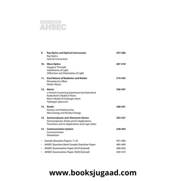 Contents of Exam master AHSEC Class 12 Physics